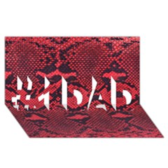 Snike #1 Dad 3d Greeting Card (8x4)