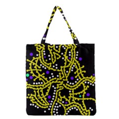 Yellow Fantasy Grocery Tote Bag by Valentinaart