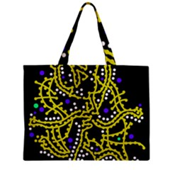 Yellow Fantasy Zipper Mini Tote Bag by Valentinaart