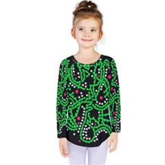 Green Fantasy Kids  Long Sleeve Tee