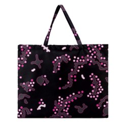 In My Mind   Pink Zipper Large Tote Bag by Valentinaart