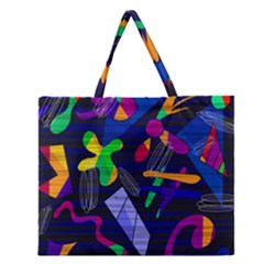 Colorful Dream Zipper Large Tote Bag by Valentinaart