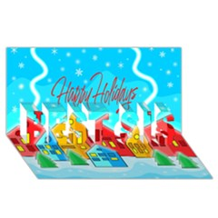 Christmas Magical Landscape  Best Sis 3d Greeting Card (8x4) by Valentinaart
