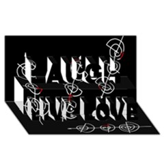 Direction Laugh Live Love 3d Greeting Card (8x4)