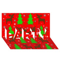 Reindeer And Xmas Trees Pattern Party 3d Greeting Card (8x4) by Valentinaart