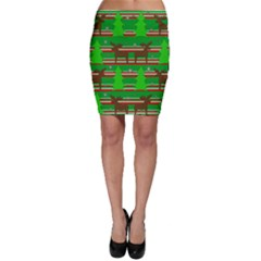 Christmas Trees And Reindeer Pattern Bodycon Skirt by Valentinaart