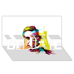 Abraham Lincoln Believe 3d Greeting Card (8x4)