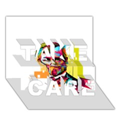 Abraham Lincoln Take Care 3d Greeting Card (7x5)
