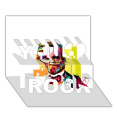 Abraham Lincoln You Rock 3d Greeting Card (7x5) by bhazkaragriz
