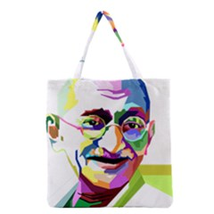 Ghandi Grocery Tote Bag by bhazkaragriz