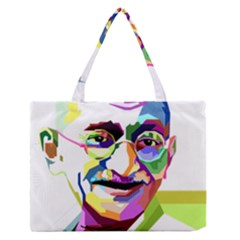 Ghandi Medium Zipper Tote Bag by bhazkaragriz