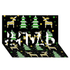 Decorative Xmas Reindeer Pattern #1 Dad 3d Greeting Card (8x4)