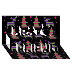 Reindeer Magical Pattern Best Friends 3d Greeting Card (8x4) by Valentinaart