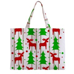 Reindeer Elegant Pattern Zipper Mini Tote Bag by Valentinaart