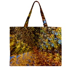 Optical Design Autumn Leaves Medium Zipper Tote Bag by SusanFranzblau