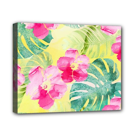 Tropical Dream Hibiscus Pattern Canvas 10  X 8  by DanaeStudio