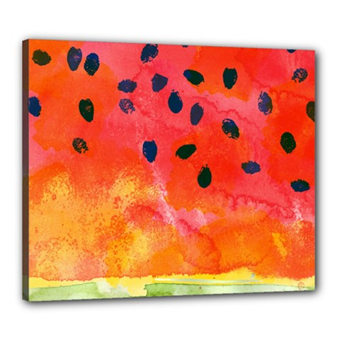 Abstract Watermelon Canvas 24  X 20  by DanaeStudio