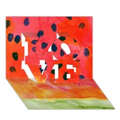 Abstract Watermelon Love 3d Greeting Card (7x5) by DanaeStudio