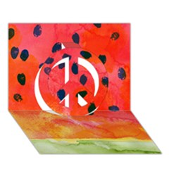 Abstract Watermelon Peace Sign 3d Greeting Card (7x5) by DanaeStudio