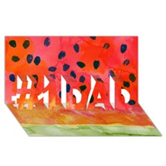 Abstract Watermelon #1 Dad 3d Greeting Card (8x4)