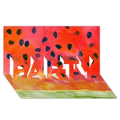 Abstract Watermelon Party 3d Greeting Card (8x4) by DanaeStudio