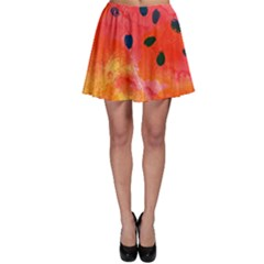 Abstract Watermelon Skater Skirt by DanaeStudio