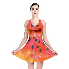 Abstract Watermelon Reversible Skater Dress
