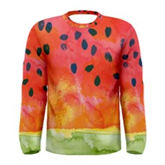 Abstract Watermelon Men s Long Sleeve Tee by DanaeStudio