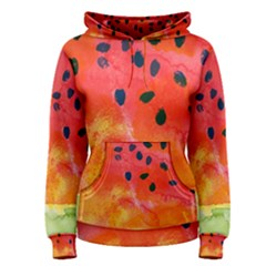 Abstract Watermelon Women s Pullover Hoodie
