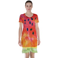 Abstract Watermelon Short Sleeve Nightdress by DanaeStudio