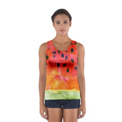 Abstract Watermelon Women s Sport Tank Top