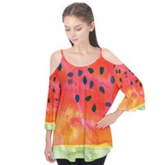 Abstract Watermelon Flutter Tees