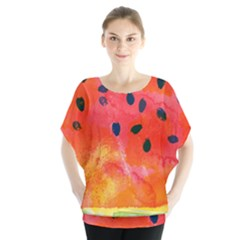 Abstract Watermelon Blouse by DanaeStudio