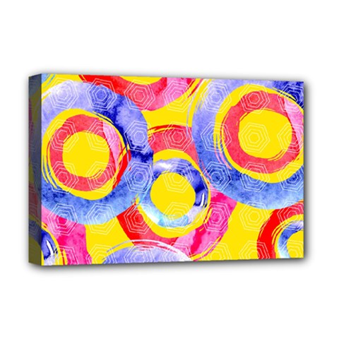 Blue And Pink Dream Deluxe Canvas 18  X 12   by DanaeStudio