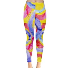 Blue And Pink Dream Leggings  by DanaeStudio