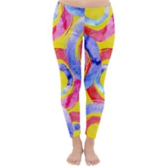 Blue And Pink Dream Classic Winter Leggings by DanaeStudio