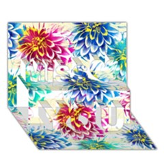 Colorful Dahlias Miss You 3d Greeting Card (7x5) by DanaeStudio