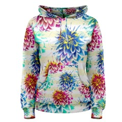 Colorful Dahlias Women s Pullover Hoodie by DanaeStudio