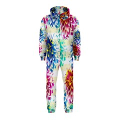 Colorful Dahlias Hooded Jumpsuit (kids)
