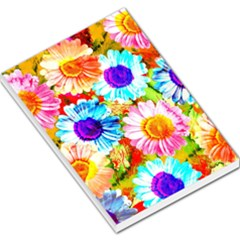 Colorful Daisy Garden Large Memo Pads by DanaeStudio
