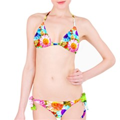 Colorful Daisy Garden Bikini Set