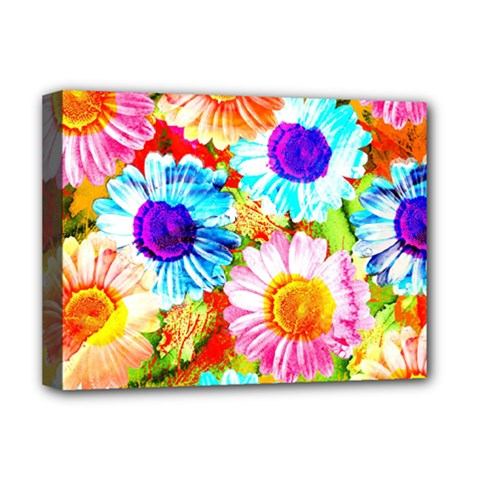 Colorful Daisy Garden Deluxe Canvas 16  X 12