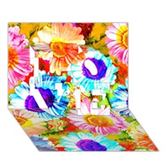 Colorful Daisy Garden Love 3d Greeting Card (7x5)