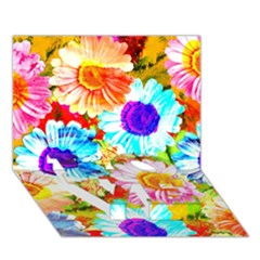 Colorful Daisy Garden Love Bottom 3d Greeting Card (7x5)