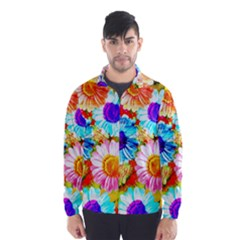 Colorful Daisy Garden Wind Breaker (men) by DanaeStudio