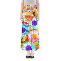 Colorful Daisy Garden Maxi Skirts by DanaeStudio