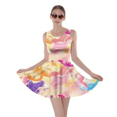 Colorful Pansies Field Skater Dress