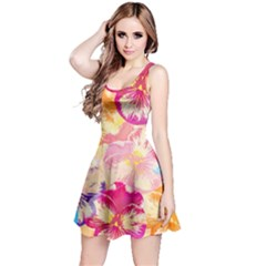 Colorful Pansies Field Reversible Sleeveless Dress