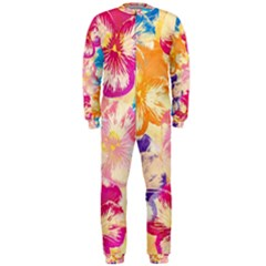 Colorful Pansies Field Onepiece Jumpsuit (men)