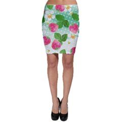 Cute Strawberries Pattern Bodycon Skirt